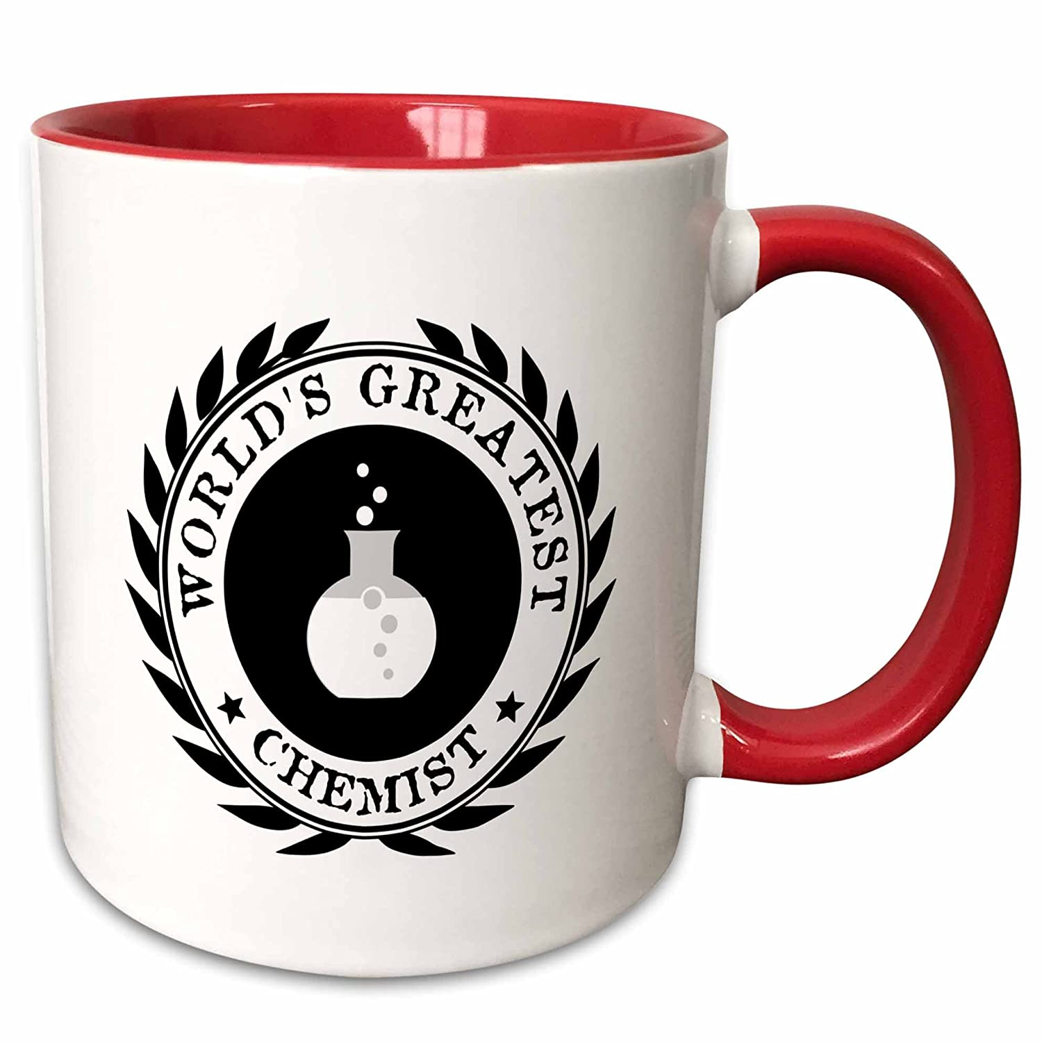 Buy 3drose Inspirationzstore Typography Worlds Greatest Chemist Chemistry Job Pride Black Badge Graphic 11oz Two Tone Red Mug Mug 164892 5 Online At Low Prices In India Amazon In
