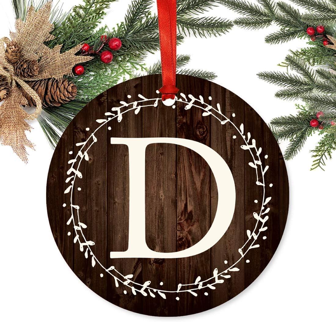 unfinished wood Antlers Ornament 4 Monogram Ornament Christmas Ornament Monogrammed Ornament -210112