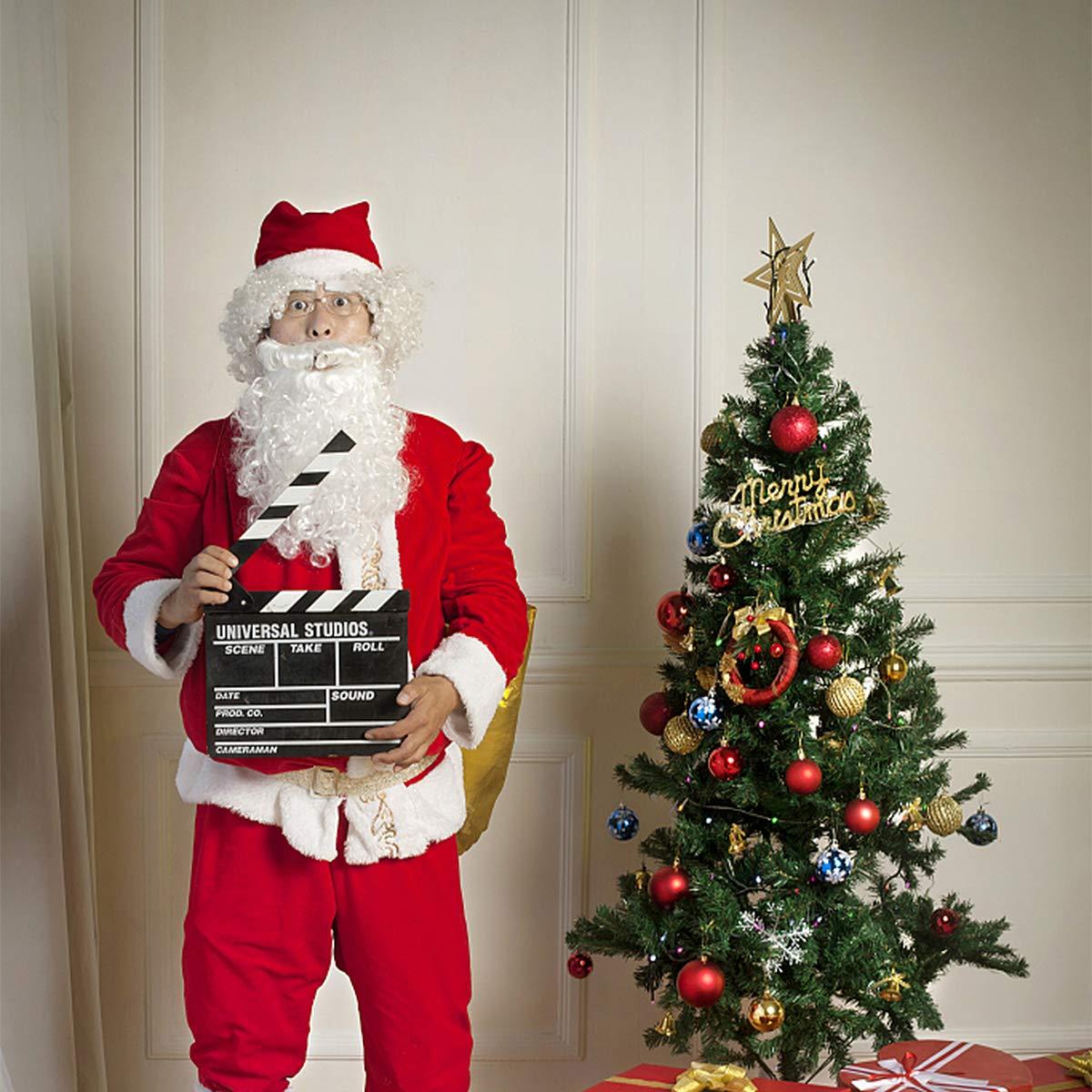 BESTOYARD Christmas Santa Claus Wig Beard Set Christmas Santa Cosplay Costume Adults