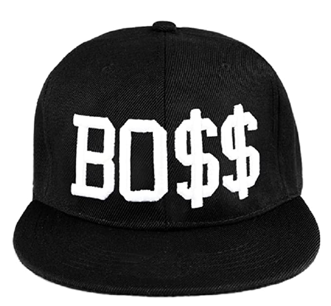 2cb4eee92342 Baseball Mütze Cap Caps schwarz Snapback with Adjustable Strap BOSS LA  (Boos)  Amazon.de  Bekleidung