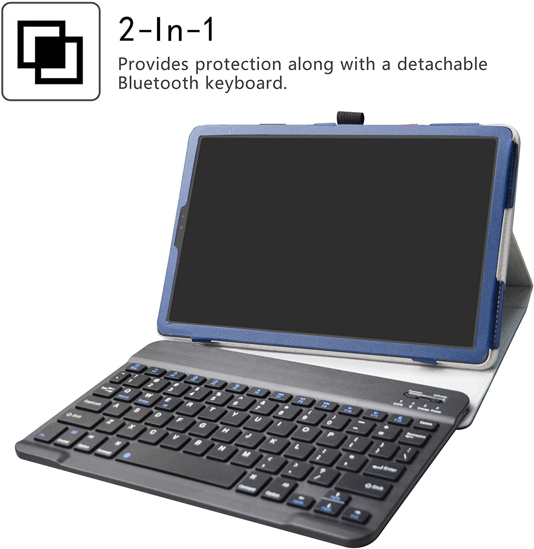 Detachable Wireless Bluetooth Teclado Teclado QWERTY Formato ingl/és LiuShan Galaxy Tab S5E Bluetooth Teclado Funda PU Cuero con Soporte Caso para 10.5 Samsung Galaxy Tab S5E T720 T725,Negro