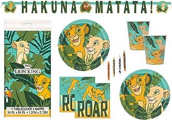 Amazon.com: The Lion King – Juego de suministros para fiesta ...