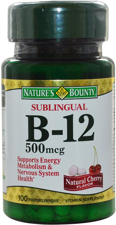 Nature's Bounty Vitamin B-12 500 mcg, 100 ea (Pack of 4)