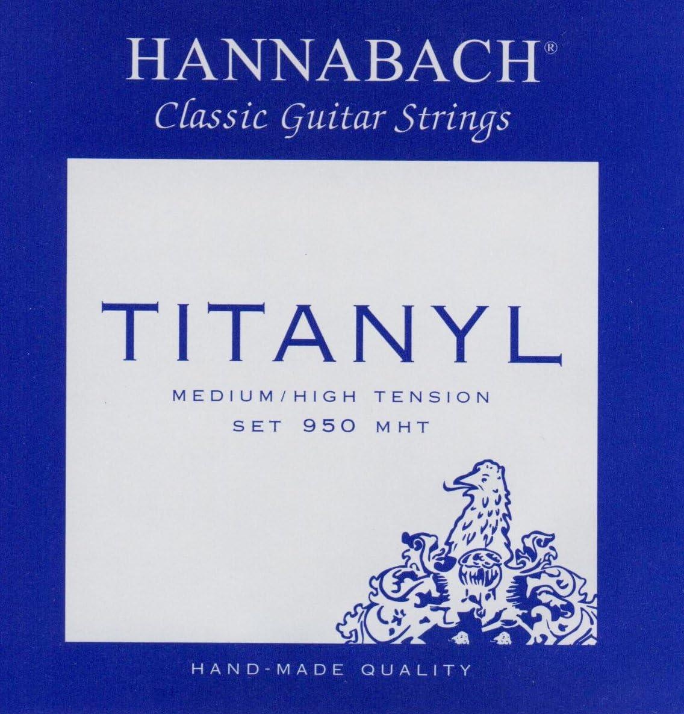 Hannabach 653157 Cuerdas para guitarra clásica, Serie 950 Tensión Media/Alta Titanyl - Juego