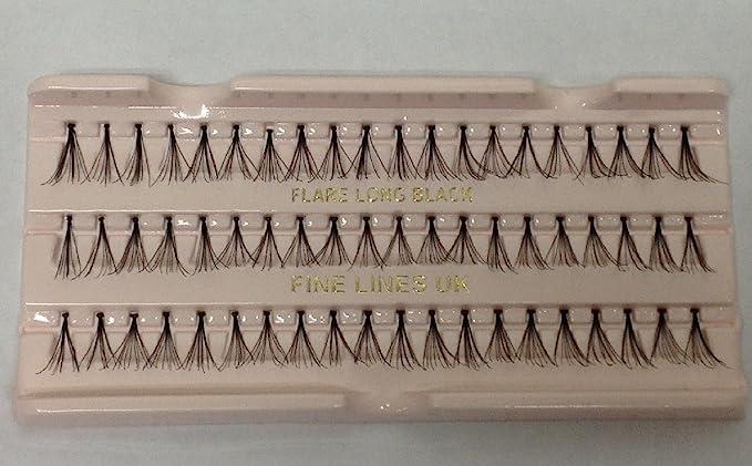 dc01b7de927 60 x Individual False/Fake Flare Cluster Lashes Eyelashes Extensions  (Medium (617-02)): Amazon.co.uk: Beauty