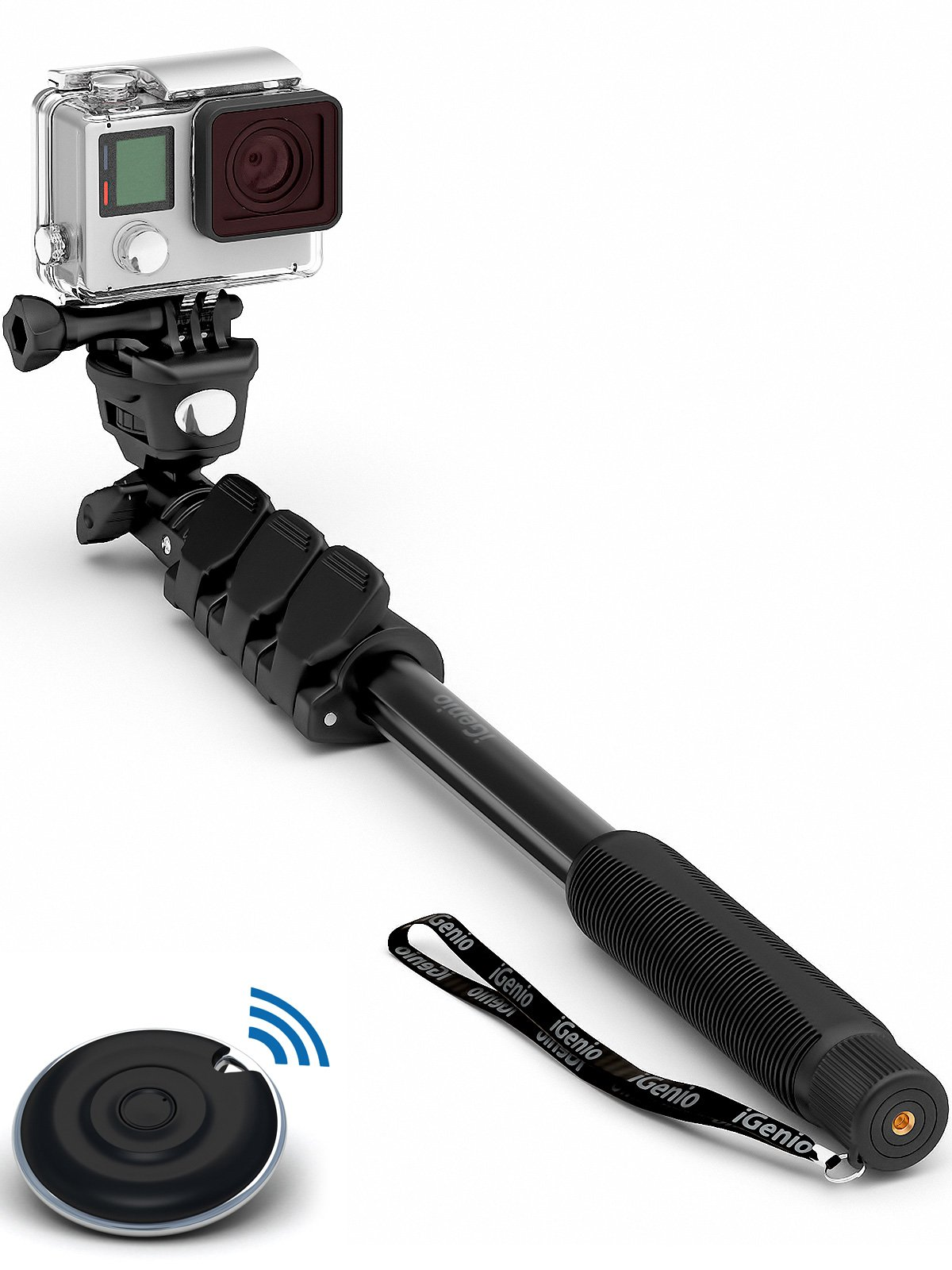 Professional 10-In-1 Monopod / Selfie Stick For GoPro Hero, iPhone, Samsung Galaxy, Digital Cameras With Bluetooth Remote Shutter (Cellphones Only) by Selfie World (Image #1)