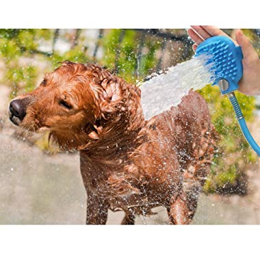 innovations plus Pet Bathing Sprayer Grooming Glove Tool Scrubber Bath Mitt Hose Attachment for Dog, Cat, Horse Groomer Scrubbing, Massaging, Indoor, Outdoor Hand Washer Accessories