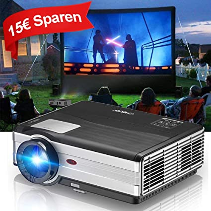 LCD HD Video Proyector, 4000 lúmenes WXGA Multimedia LED proyector Home Cinema 1080p Soporte HDMI