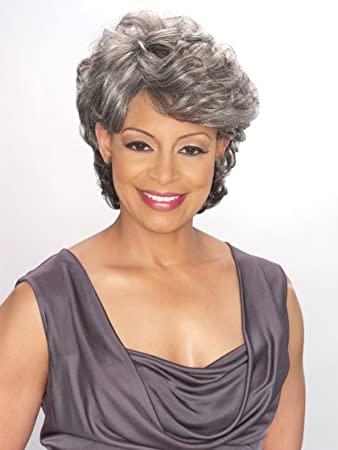 Amazon Foxy Silver Synthetic Wig Emily 1 Hair Replacement