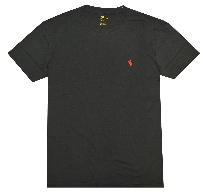 2f936dd2 Polo Ralph Lauren Men Classic Fit Crew Neck Pony Logo T-shirt (XXL, RL  Black) at Amazon Men's Clothing store:
