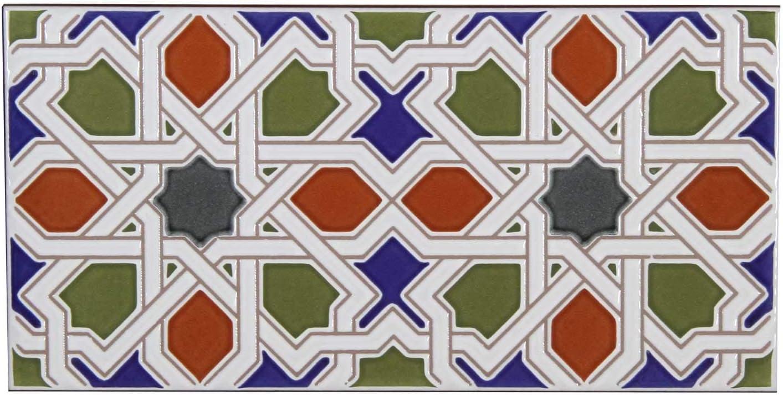 Sch/öne Wandfliesen f/ür K/üche Bad /& K/üchenr/ückwand Maurische Relief-Fliesen FL3050 Casa Moro Marokkanische Keramikfliesen orientalisch Rayhan 28 x 14 cm 0,98 m/² Mosaik-Muster