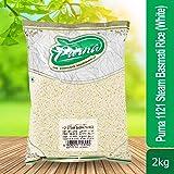 Purna 1121 Steam Basmati Rice - 2 kg (White)