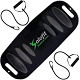 Solofit Balance Board with Resistance Bands - Fitness Board for Adults – The Abs Legs Core Workout Balancing Board…