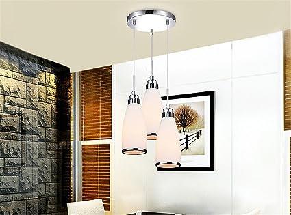 Fyn led tre teste lampadario bianco rettangolo diametro alto 10cm