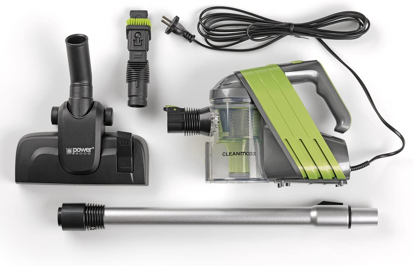 Clean Maxx 09668 – Aspirador ciclónico sin bolsa (400 W, – Aspiradora de mano con cable, Aspiradora con tubo telescópico y amplia accesorios, 0,6 litros de capacidad.): Amazon.es: Hogar