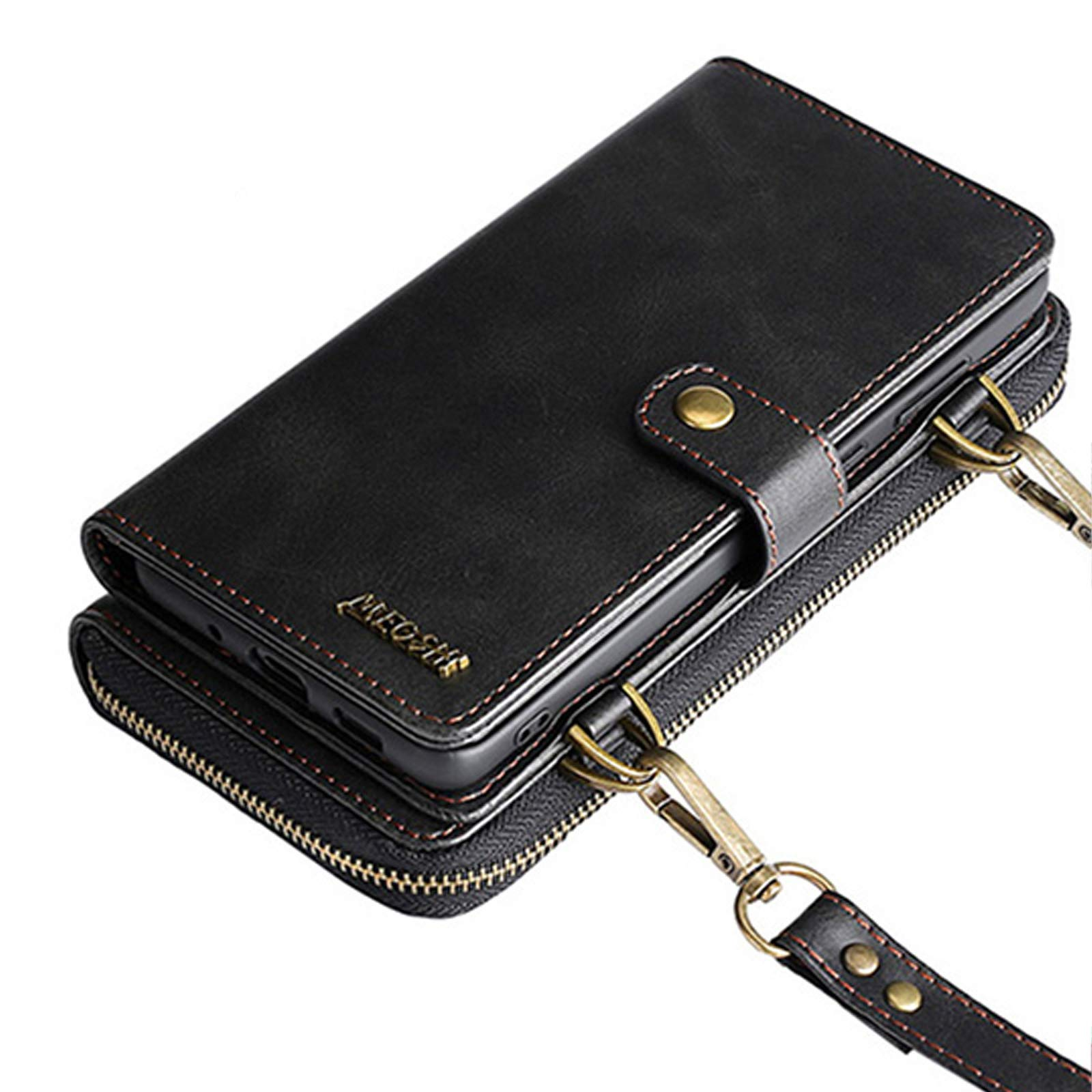 Wallet Case Compatible with 12 Pro Max Flip Case Vintage Leather Magnetic