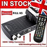 New FULL HD Mini Scart FREEVIEW HD Set Top Digi Box Digital TV Receiver & 1080P HD USB Recorder DVB-T2 HD Terrestrial Tuner Analogue to Digital Television Converter.