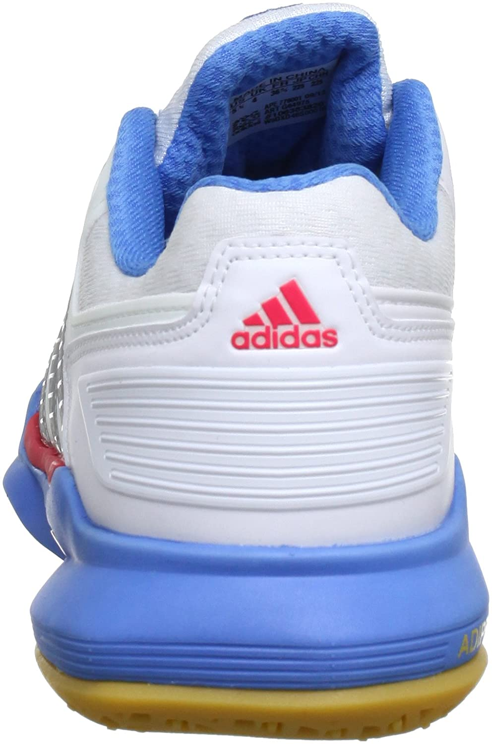 wholesale dealer 6599e 4c1bb adidas adipower Stabil 10.0 W G64975, Damen Handballschuhe, Weiß (Running  White Ftw  Metallic Silver  Joy Blue S13), EU 48 (UK 12.5) Amazon.de  Schuhe  ...