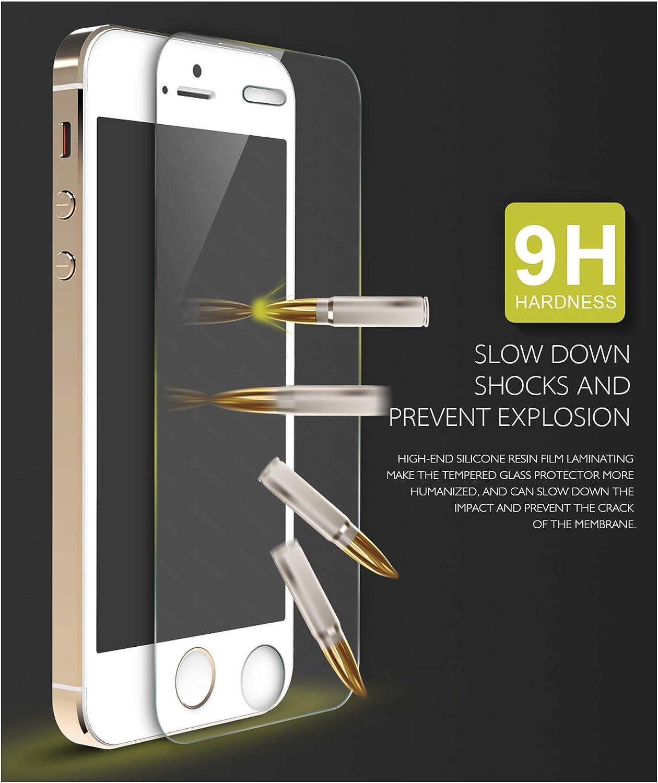 5.5 Ultra-Thin Ballistics Glass 99/% Touch-Screen Accurate Round Edge 0.3mm JTD /® iPhone 6 /& 6S Plus Glass Screen Protector Ultra-Clear Glass Screen Protector Perfect Maximum Screen Protection