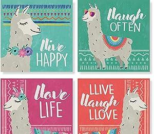 Carson Llama Square House Coaster Set