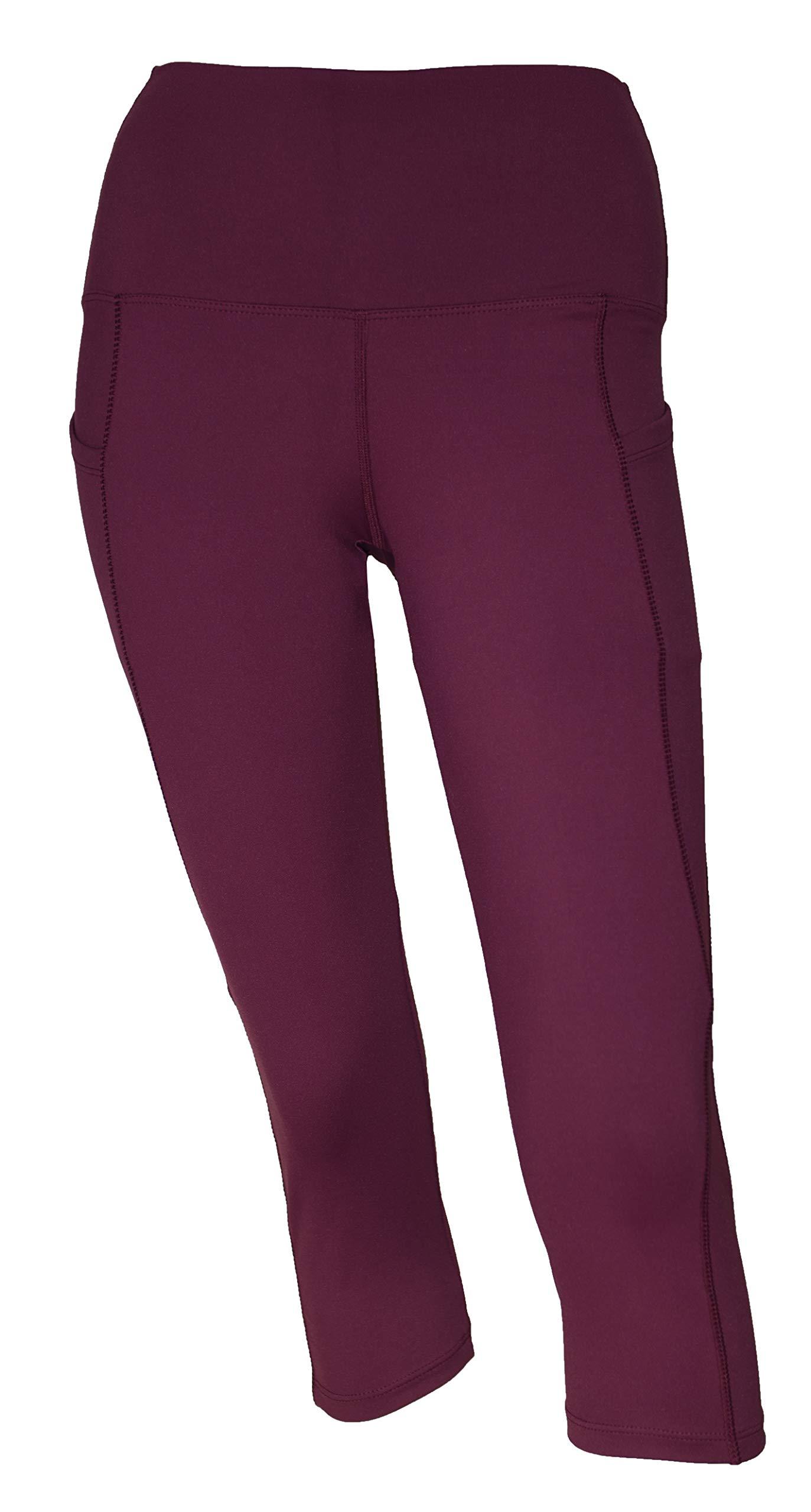 Private Island Women Swim Pockets Pants for UV Rashguard (Large, Dark Wine) by Private Island
