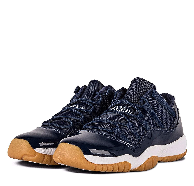more photos 16196 df0d4 Amazon.com   Nike Boys Air Jordan 11 Retro Low Midnight Navy Midnight  Navy White Leather Size 6.5Y   Basketball