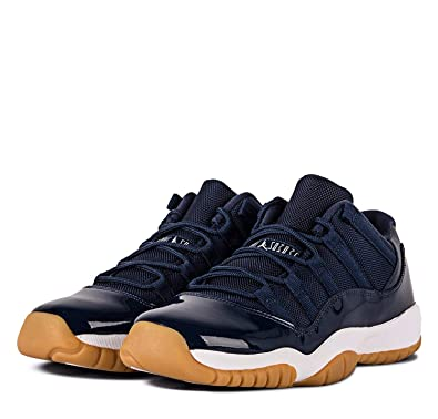 27118ec1dea44 Nike Boys Air Jordan 11 Retro Low Midnight Navy Midnight Navy/White Leather  Size 6.5Y