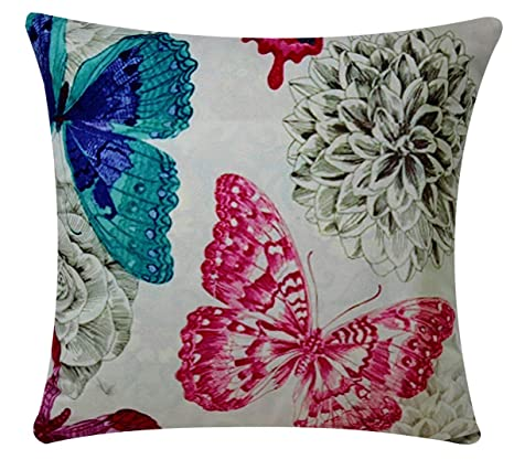 Bullahshah Estampado de Mariposas Fondo Verde Menta Chenille ...