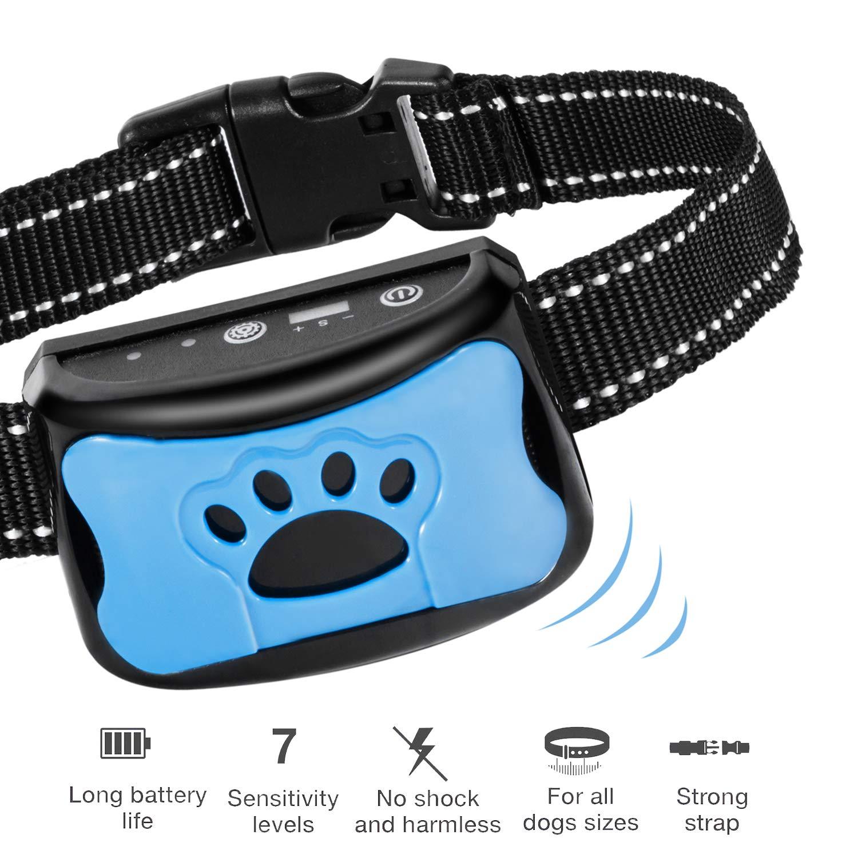 ANYFONG Dog Bark Collar Humane Anti Barking Dog Training Collar Rechargeable Waterproof Stop Barking Collar for Small Medium Large Dog Vibration No Shock by ANYFONG