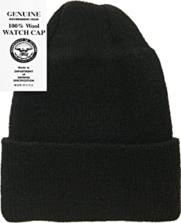 140eceb02d8 Military Genuine GI Winter USN Warm Wool Hat Watch Cap USA Made