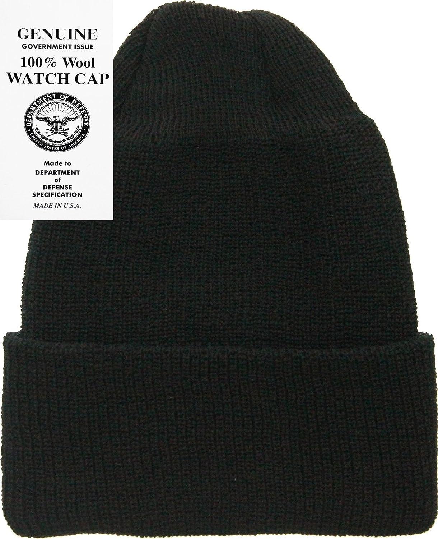 Amazon.com: Military Genuine GI Winter USN Warm Wool Hat Watch Cap ...