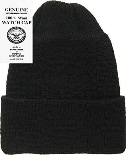 753dc9cbe0e Amazon.com  Military Genuine GI Winter USN Warm Wool Hat Watch Cap ...