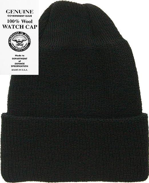 Amazon.com  Military Genuine GI Winter USN Warm Wool Hat Watch Cap ... 962c128895