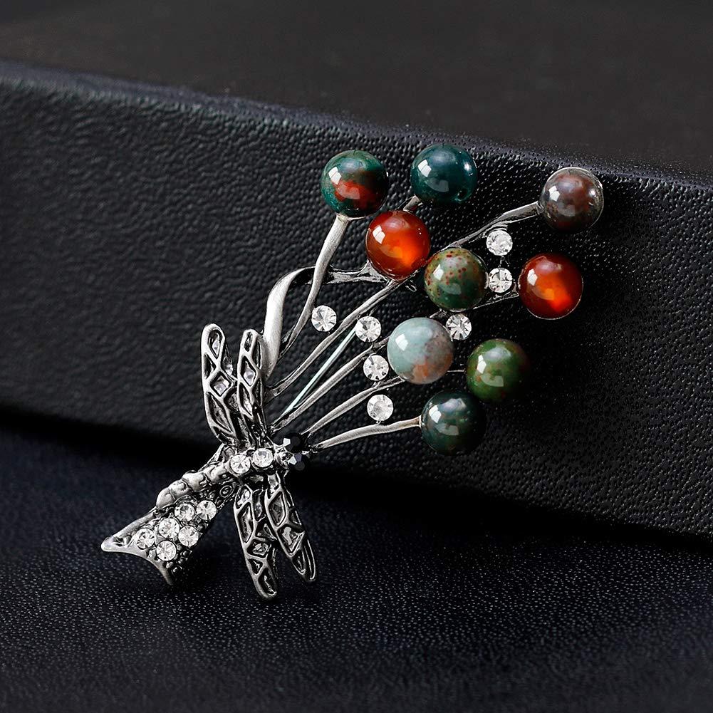 Retro Christmas Tree Brooch Pin Multi-Colored Stone Tree Brooches Vintage Stone Rhinestone Brooch