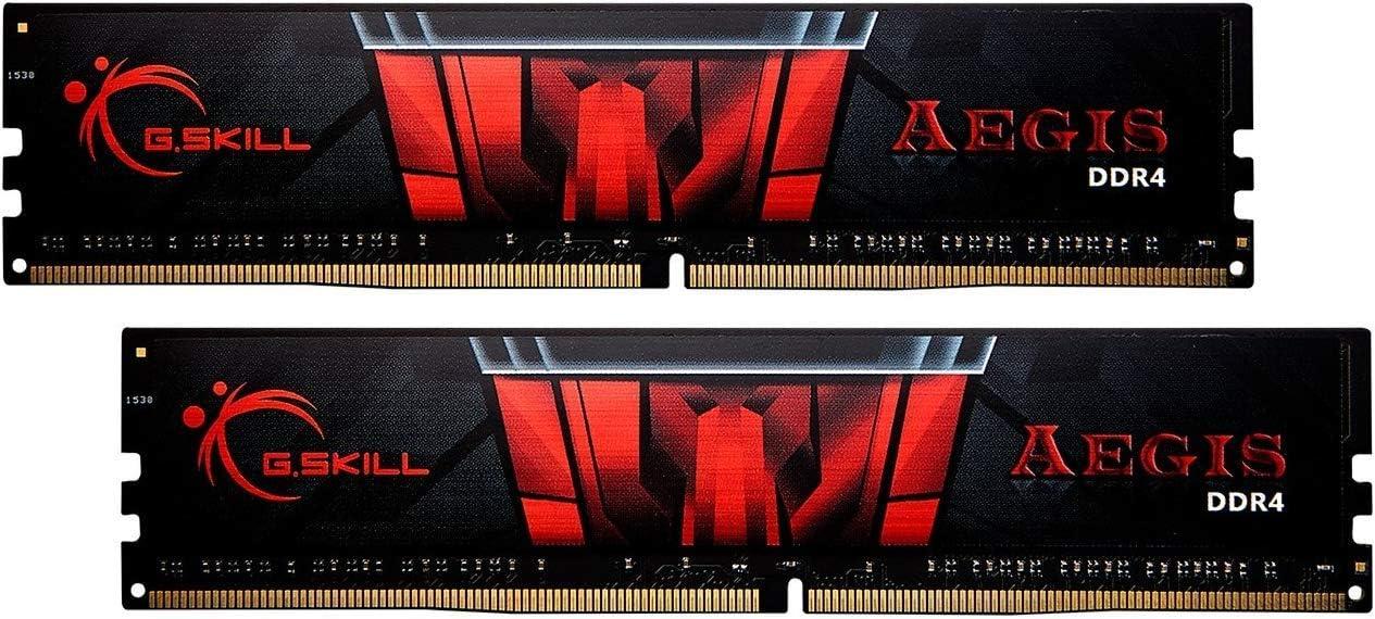 G.Skill AEGIS Series 16GB (2 x 8GB) 288-Pin SDRAM PC4-25600 DDR4 3200MHz CL16-18-18-38 1.35V Desktop Memory Model F4-3200C16D-16GIS