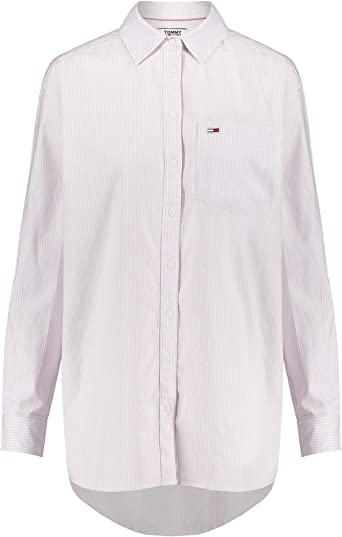 Tommy Jeans Camisa Rayas Rosa Mujer L Rosa: Amazon.es: Ropa y ...