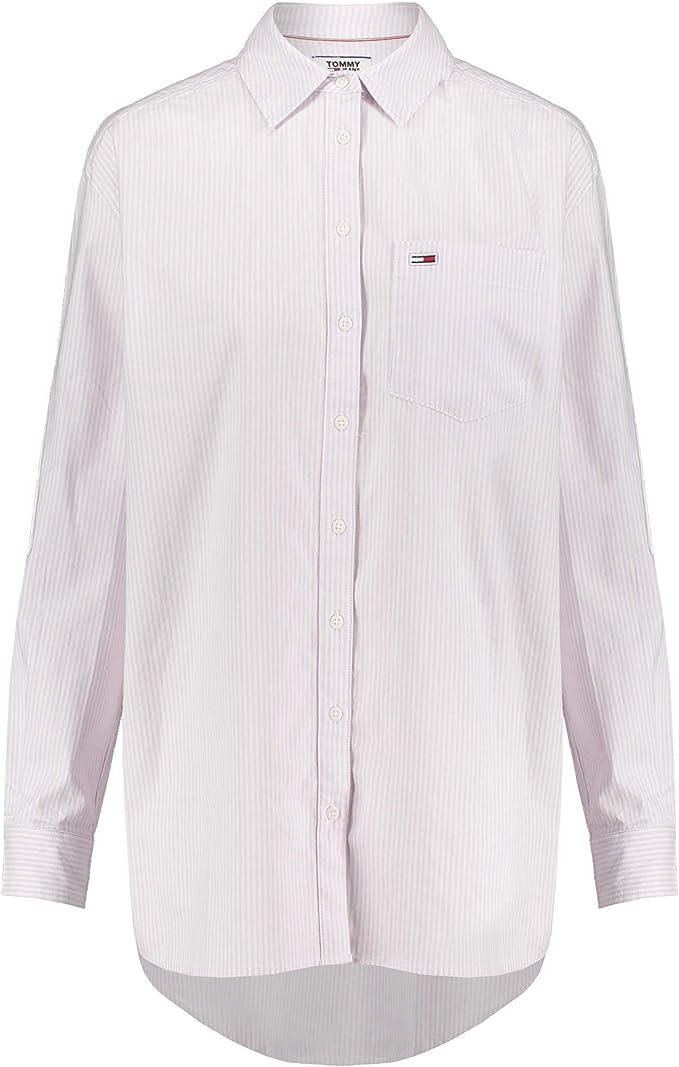 Tommy Jeans Camisa Rayas Rosa Mujer L Rosa: Amazon.es: Ropa y accesorios