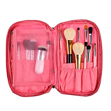 cb7eb3f4bb Image Unavailable. Image not available for. Color  Hatop Pro Makeup Brush  Bag Cosmetic Tool Brush Organizer Holder Pouch Pocket Kit ...