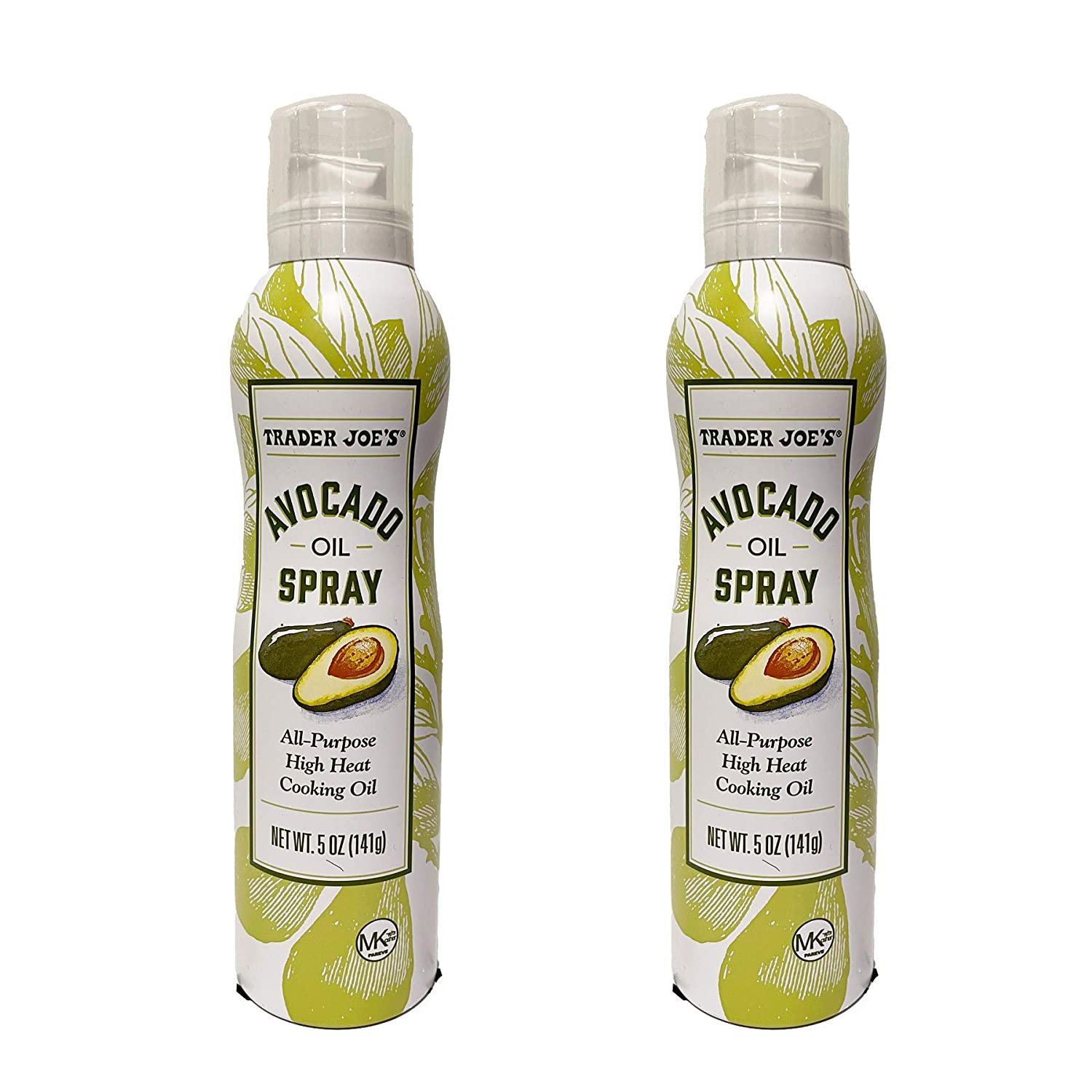 Trader Joe's Avocado Oil Spray All Purpose High Heat Cooking Oil - Pack of 2