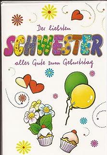 Gluckwunschkarte Zum Geburtstag Fur Die Schwester Schwesterherz