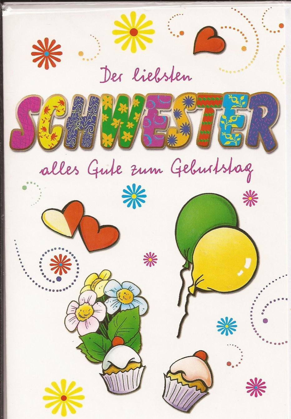 Geburtstagskarte Der Liebsten Schwester Alles Gute Zum Geburtstag:  Amazon.de: Bürobedarf U0026 Schreibwaren