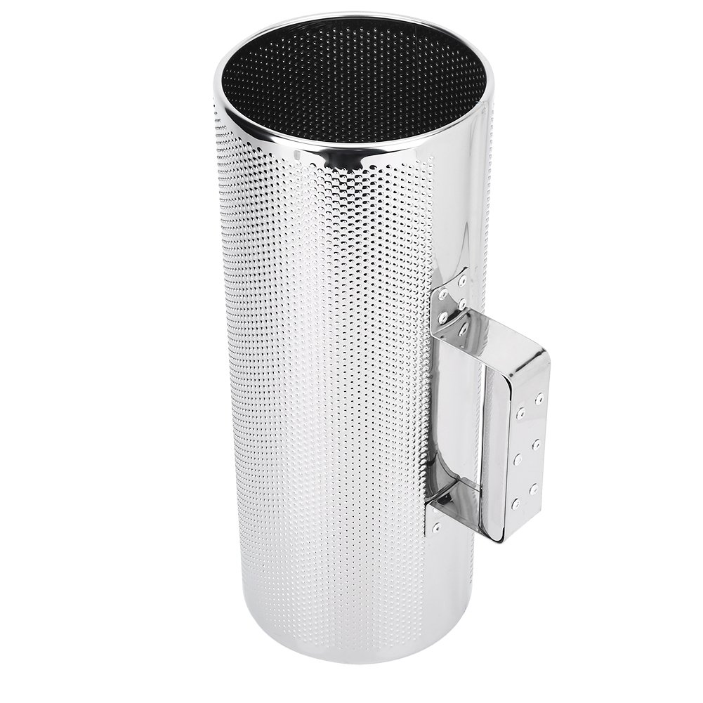 Alomejor Professional Guiro, 5 x 12.8'' Stainless Steel Guiro Shaker with Scraper Percussion Instrument