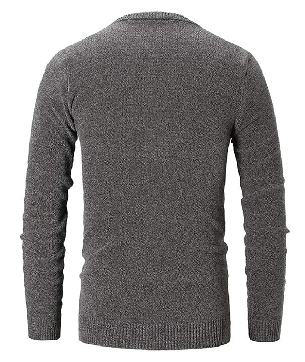 CBTLVSN Mens Casual Round Neck Knit Pullover Sweater Knitwear