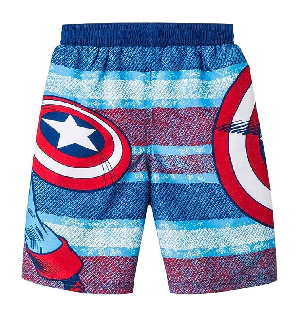 78e230685cec9 Amazon.com: Marvel BOYS Captain America Shield Toddler Swim Trunks (2T):  Clothing
