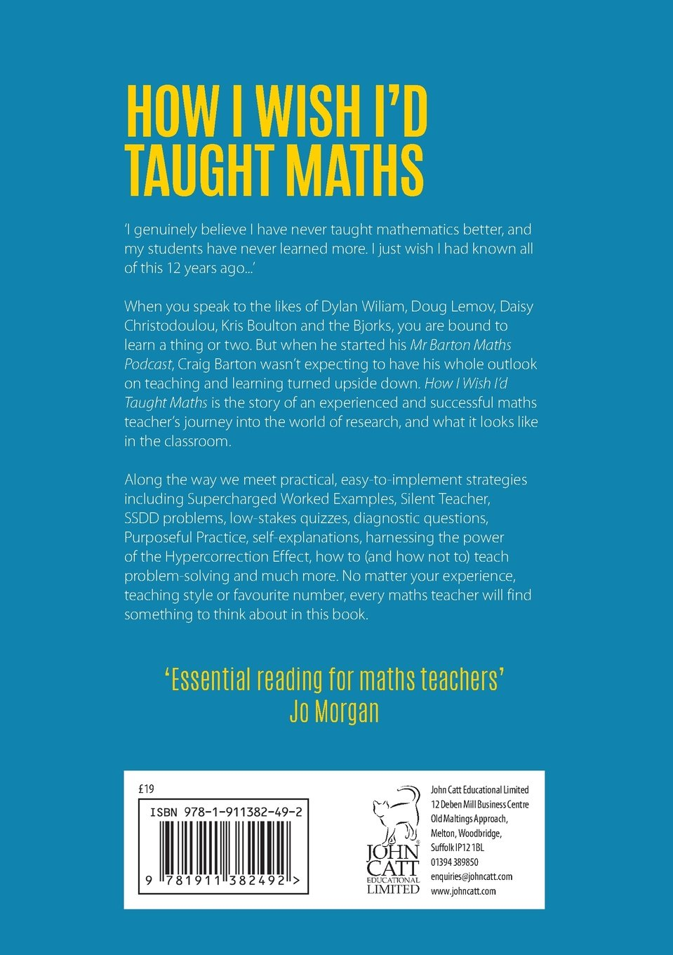 How i wish id taught maths lessons learned from research how i wish id taught maths lessons learned from research conversations with experts and 12 years of mistakes amazon craig barton 9781911382492 fandeluxe Images