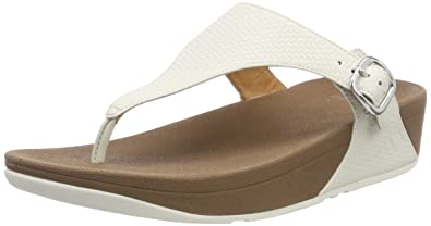 a08ea192159d8f Fitflop Women s The Skinny Open Toe Sandals White  Amazon.co.uk ...