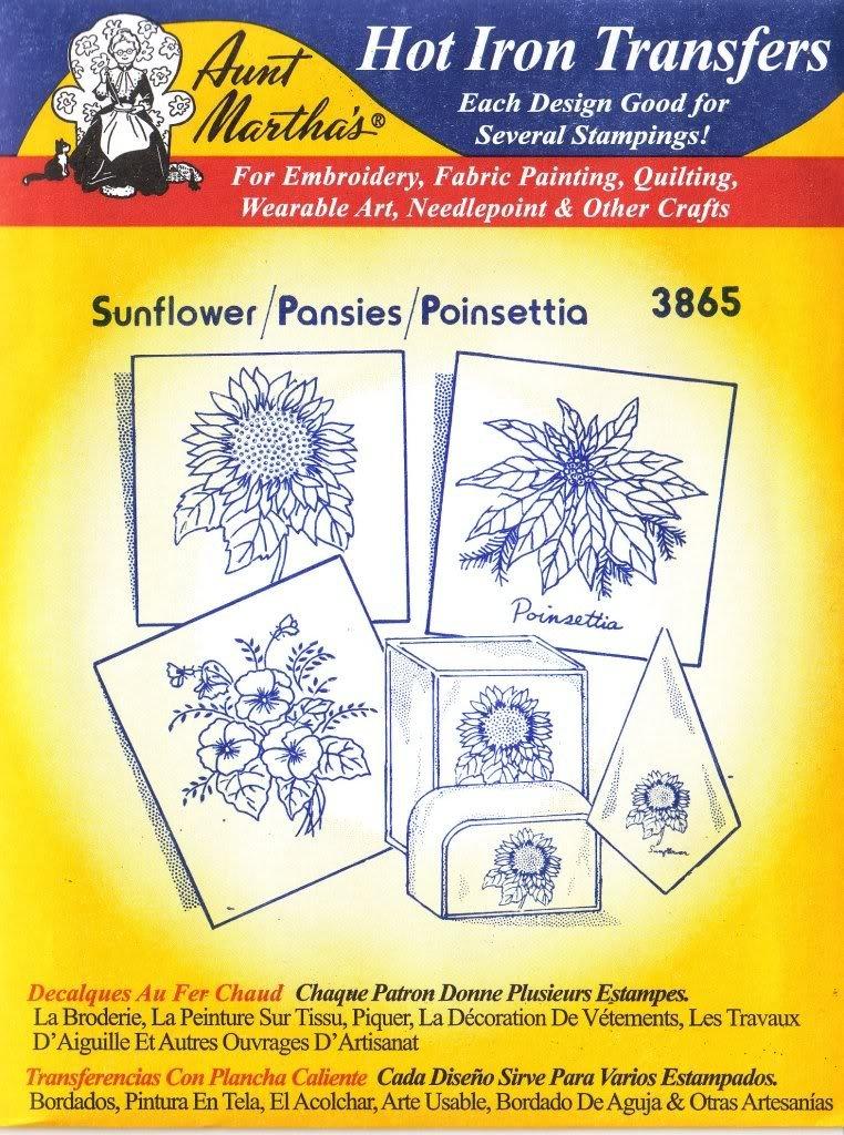 Amazon.com: Sunflower Pansies Poinsettia Aunt Martha\'s Hot Iron ...