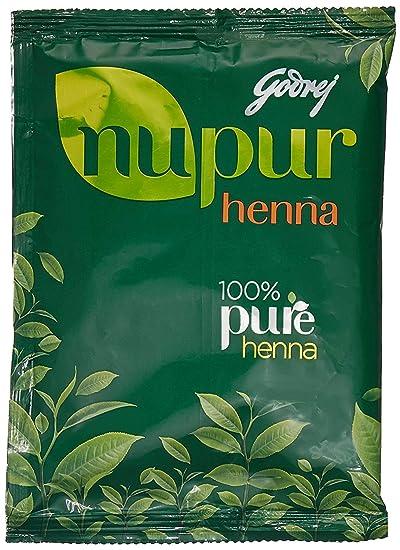 Amazon Com Godrej Nupur Mehendi Powder 9 Herbs Blend 120 Gram
