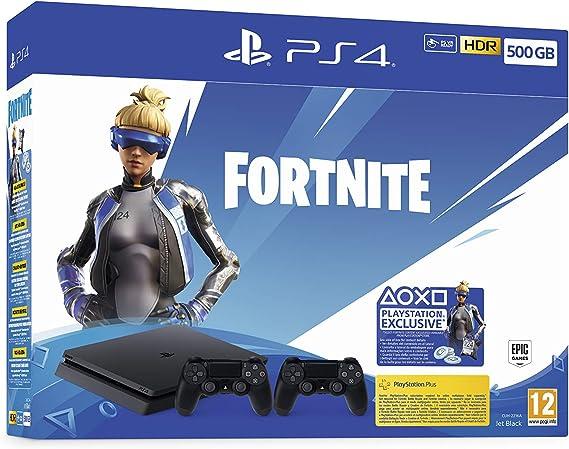 Playstation 4 (PS4) - Consola 500 Gb + 2 Mandos Dual Shock 4 + Contenido Fortnite (Edición Exclusiva Amazon): Amazon.es: Videojuegos