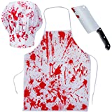 Tigerdoe Bloody Costumes - Scary Costumes - Butcher Costume - (3 Pc Costume set) by